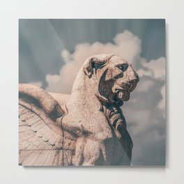 WINGED ROMAN LION Metal Print