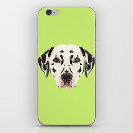 Dalmatian // Green iPhone Skin