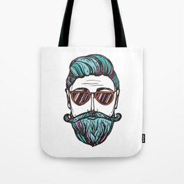 Hipster Face Style Tote Bag