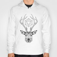 stag Hoodies featuring Stag by Andy Christofi