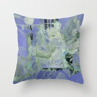 transparent Throw Pillows featuring transparent flowers by clemm