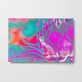 Electric Leaves II Metal Print
