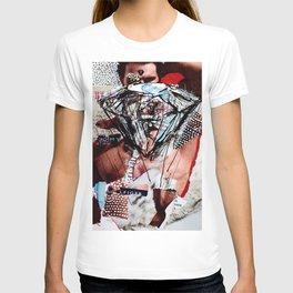 Diamond Head - Magazine Collage Painting T-shirt