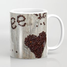 Love Coffee in Beans - Cafe or Kitchen Decor Coffee Mug