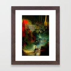 The city which fell asleep Framed Art Print