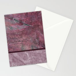 Two Tone Mauve Marble Stone Stationery Cards