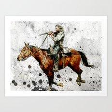 Western Outlaw Cullen Bohannon Art Print