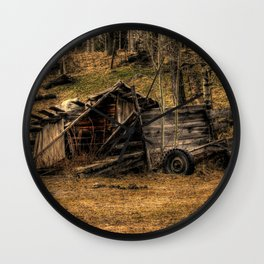 Visions Of The Past - Rustic Shed Wall Clock