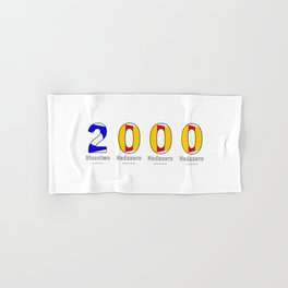 2000 - NAVY - My Year of Birth Hand & Bath Towel