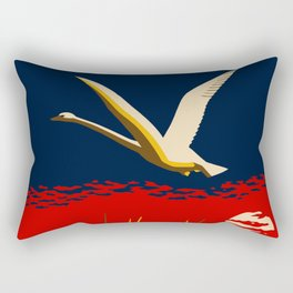 Ambition or trumpeter swan Rectangular Pillow
