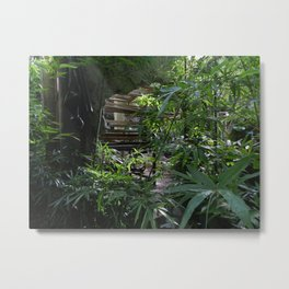 The Orchid Station Metal Print