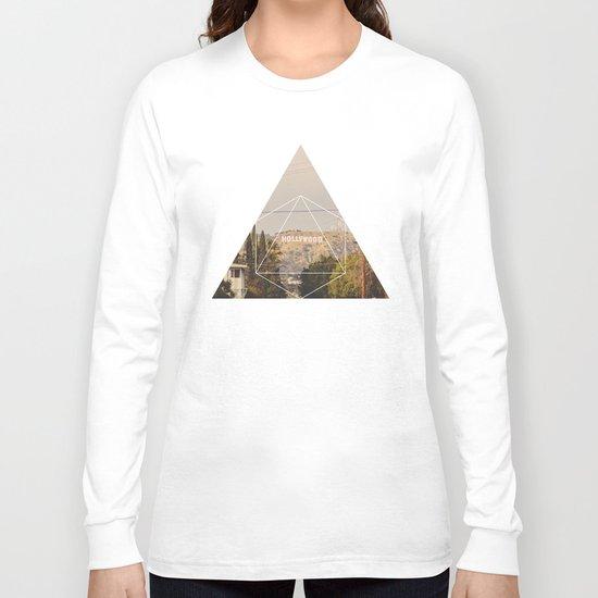 Hollywood Sign - Geometric Photography Long Sleeve T-shirt