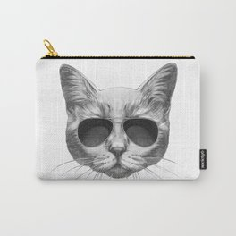 Portrait of Cat with sunglasses Carry-All Pouch