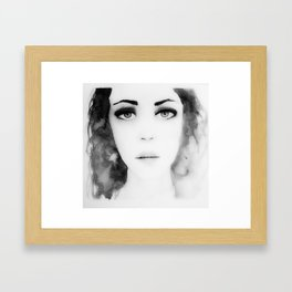 Disappear b&w Framed Art Print