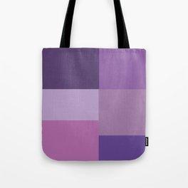 Purple Squares Tote Bag