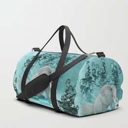 Awesome funny squirrelelephant Duffle Bag
