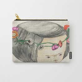 Flower Crown Frown Carry-All Pouch