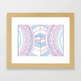 Everyday Symmetrical Hipster Framed Art Print