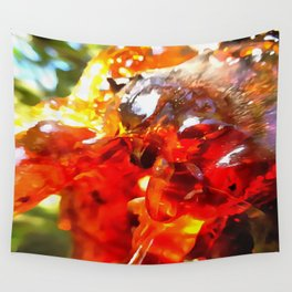 Apricot Resin Abstract Wall Tapestry