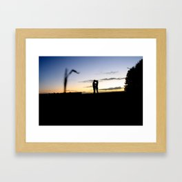 Love at the field. Framed Art Print