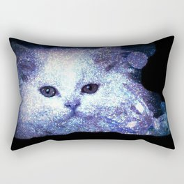 Cat white glitter Rectangular Pillow