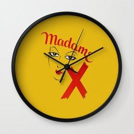 Vintage Madame X Movie Film Bold Graphic  Wall Clock