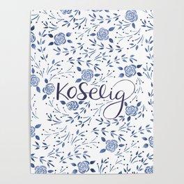 Koselig - Blue Poster