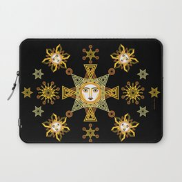 Snowflake Stars collection  by ©2018 Balbusso Twins Laptop Sleeve