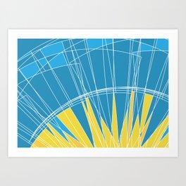 Abstract pattern, digital sunrise illustration Art Print