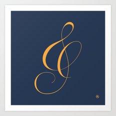 Nautica's Ampersand Art Print