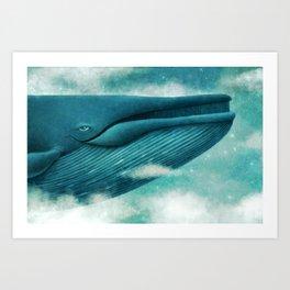 Dream of The Blue Whale Art Print