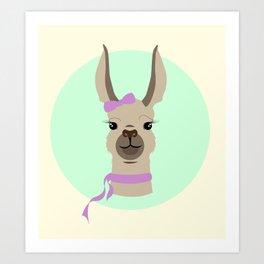 Mrs. Llama Art Print