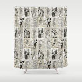 Universal Monster Pattern Shower Curtain