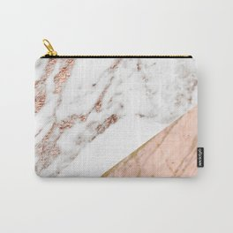 Marble rose gold blended Carry-All Pouch