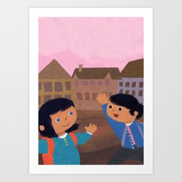 First Day of School Art Print