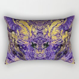 Abstract Amethyst  with gold marbled texture Rectangular Pillow