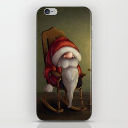 New edit: Little Santa in his rocking chair iPhone Skin