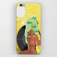 erykah badu iPhone & iPod Skins featuring Erykah by The_Section