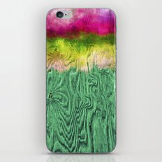 Green Apple Ombre on Wood iPhone & iPod Skin