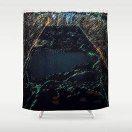 Central Park - New York City Nighttime Landscape Painting by Jeanpaul Ferro Shower Curtain