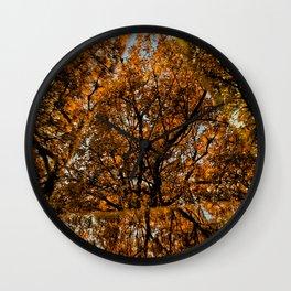 Reflected Tree Wall Clock