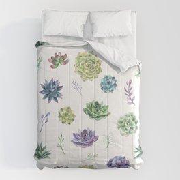 Succulents Plant Lover Comforters