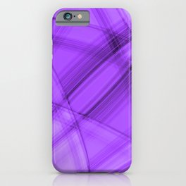 Angular strokes with amethyst diagonal lines from intersecting bright stripes of light. iPhone Case
