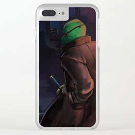 The night is my comfort Clear iPhone Case
