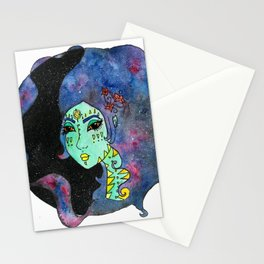 Galaxy Girl Stationery Cards