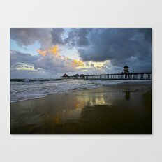 HB Sunsets  5/7/15   Huntington Beach, CA Canvas Print