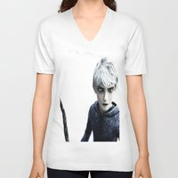 jack frost V-neck T-shirts featuring Jack Frost  by LaurenMichelle