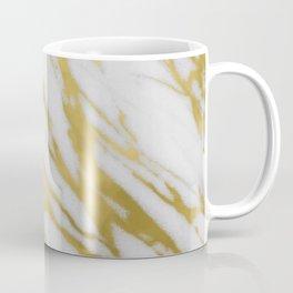 Gold White Marble Coffee Mug