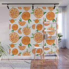 Zesty Orange Pattern Wall Mural