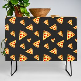 Cool and fun pizza slices pattern Credenza